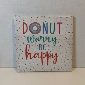 """Donut Worry Be Happy"" Canvas Print"